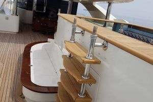 Teak steps on M/Y Royal Rubin